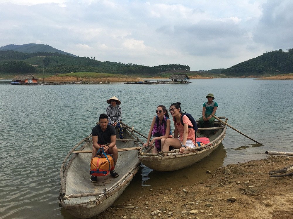 Vietnam fixer organized the shoot for Eagle Creek at Thac Ba lake