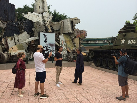 Filming in Vietnam with production crew from Producing Partner (US)