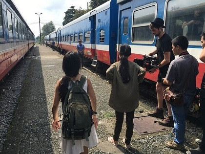 Fixer in Vietnam assisted Agile Films to produce the music video at a railway station.