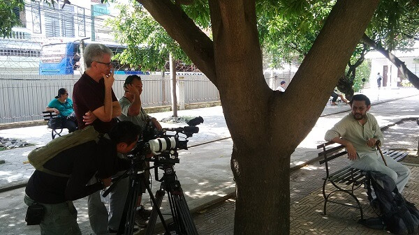 Fixer in Vietnam arranged the permit for Channel NewsAsia film crew to shoot at Museum of Genocide in Phnom Penh.