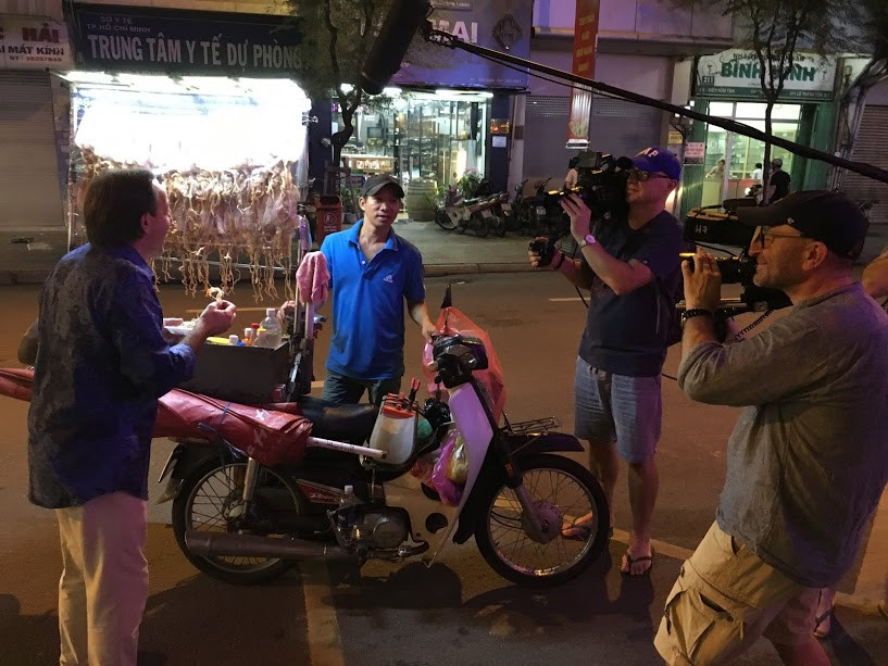 Filming in Vietnam organized the filming trip in Ho Chi Minh City for TVN film crew to explore street foods