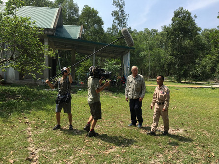 Filming in Vietnam with Whitworth Media film crew in Quang Tri province.
