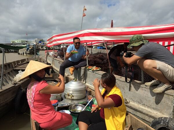 "Vietnam fixer team provided fixer services for Xtreme Media to film the program ""Swap Kerja"" in Cai Rang floating market."