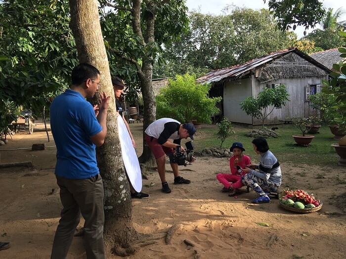 Filming in Vietnam and a crew from Luminare Media explored the lives of local people in Mekong delta