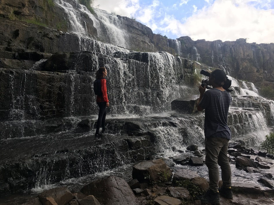 The travel gear company Eagle Creek shot its corporate video at Pongour waterfall, Da Lat.