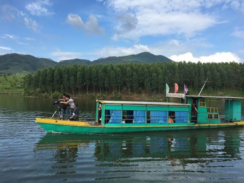 Vietnam fixer arranged the shoot for Agile Films (UK) at Thac Ba lake