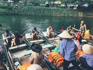 """Vietnam fixer organized shoot of the program """"Better Late Than Never"""" at Trang An Landscape Complex for Bloom Medya"""