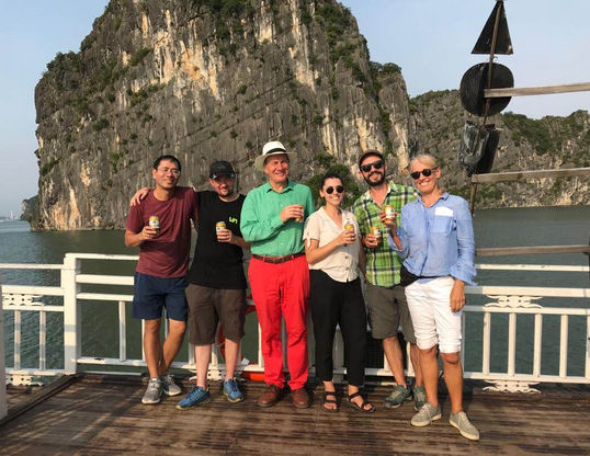 Vietnam fixer - Andy Nguyen and Boundless Productions crew in Ha Long Bay