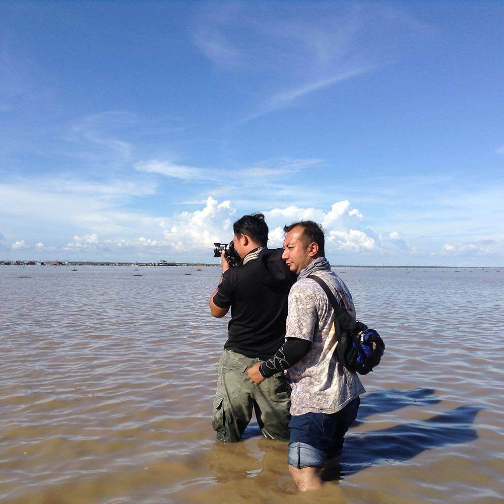 Vietnam fixer organised the shoot at Tonle Sap lake, Cambodia for Channel NewsAsia.