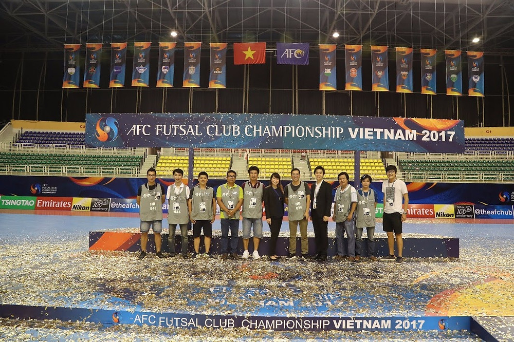 Filming in Vietnam production team at AFC Futsal Club Championship - Vietnam 2017