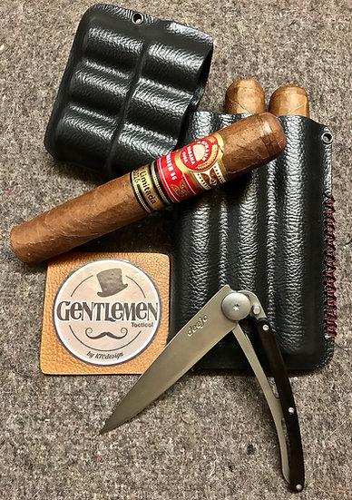 Pack Etui à Cigare Triple + Couteau