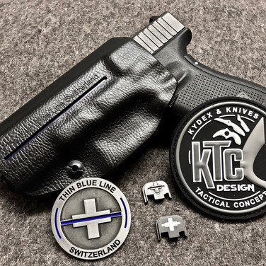 "Holster Inside Clip Rigide ""The Thin Blue Line Switzerland"""