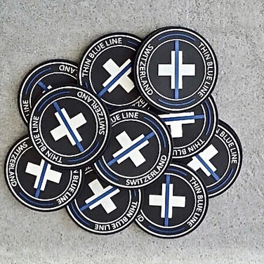 "Badge ""The Thin Blue Line Switzerland"""