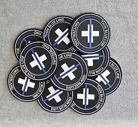 "Badge ""The Thin Blue Line Switzerland"""