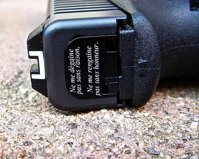 Plaquette Personnalisée Glock CNC 17/19/26