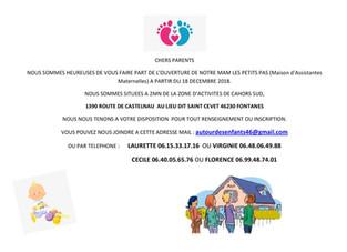Ouverture Maison Assistantes Maternelles le 18 décembre à St Cevet
