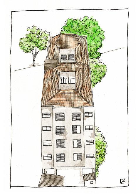 Ilustração Paisagem Urbana #1 (ver opções) - A partir de: