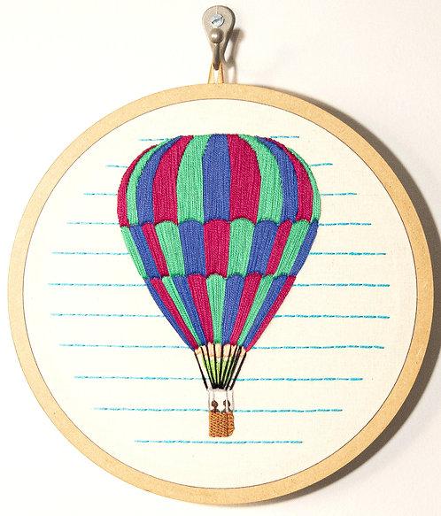 Bordado Balão - 26 x 26 cm
