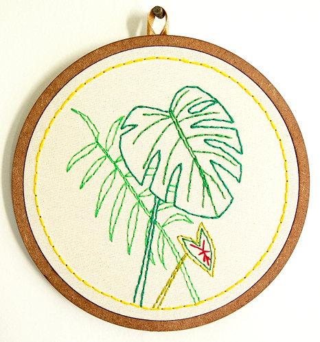 Bordado Folhas #1 - 16 x 16cm