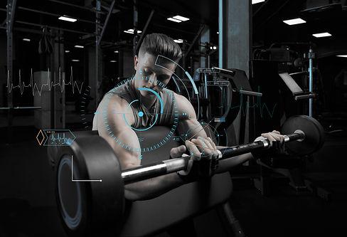 muscular-man-doing-push-ups-one-hand-gra