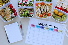 top-view-assortment-food-with-planner(ed