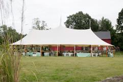 reception tent backside