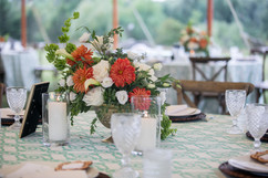 Dinner Tablescape from Durant's Party Rentals