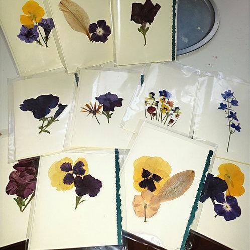 Flower Pressed Cards