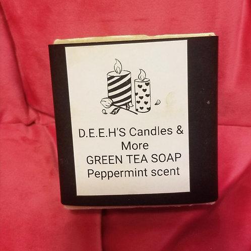 Green Tea Peppermint Scent Soap