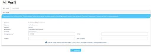 registro perfil contpaq