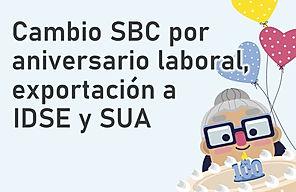 SBC por aniversario