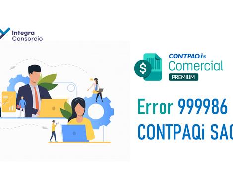 """""""Error 999986, SACI: servidor de aplicaciones no iniciado"""""""