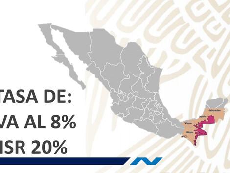 Estimulo fiscal en región fronteriza sur