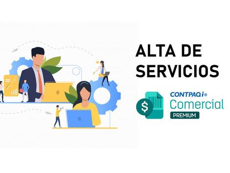 Dar de alta un servicio en CONTPAQi Comercial Premium