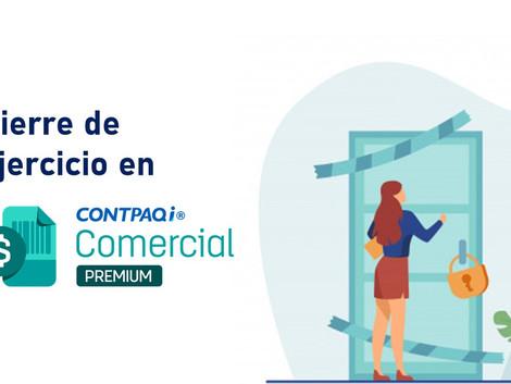 Como aplicar el cierre de ejercicio en CONTPAQi Comercial Premium
