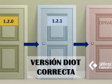 La versión de DIOT 1.2.1 publicada el 22/Feb/19 es la correcta