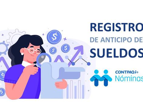 Anticipo de sueldos y su registro en el CFDI de nomina