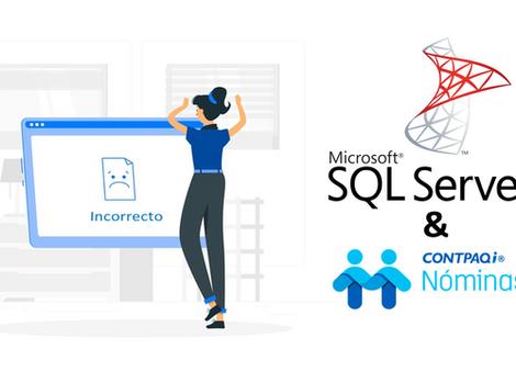 Solución usuario y password del SQL incorrectos.