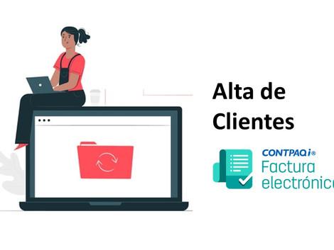 Alta de clientes en CONTPAQi Factura electrónica