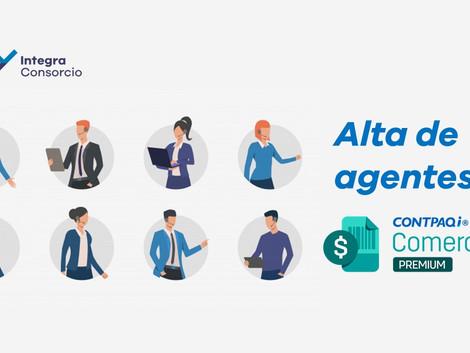 Alta de agentes en CONTPAQi Comercial Premium