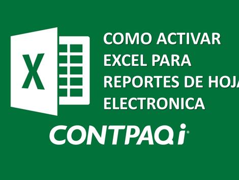 CONFIGURAR OFFICE: EXCEL PARA LA HOJA ELECTRONICA CONTPAQi