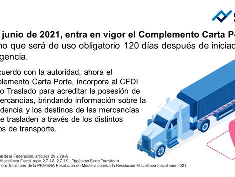 Implementación de carta porte en 2021