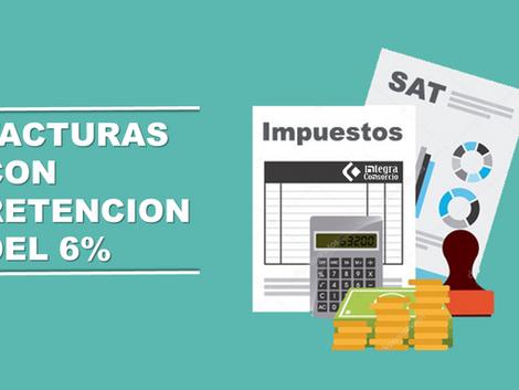 Facturas con la retención de IVA del 6%