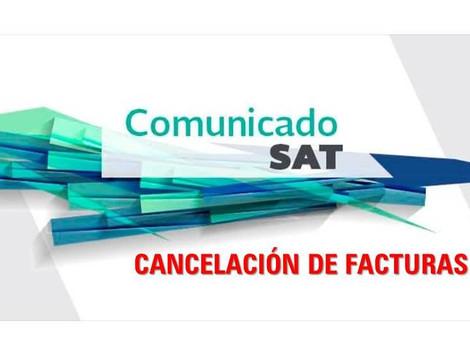 1 de septiembre para iniciar con el nuevo esquema de cancelación de facturas