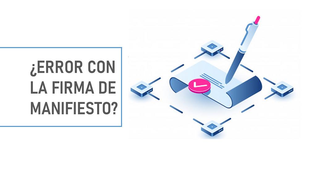 FIRMA DE MANIFIESTO CONTPAQi