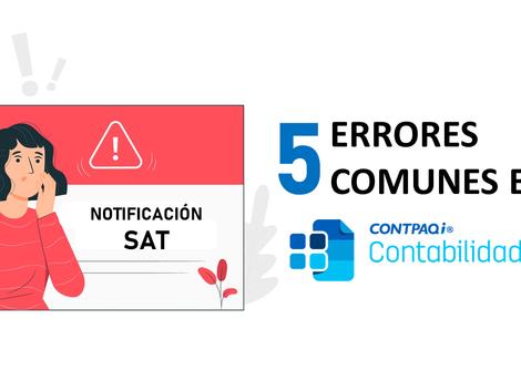 5 errores más comunes en CONTPAQi Contabilidad