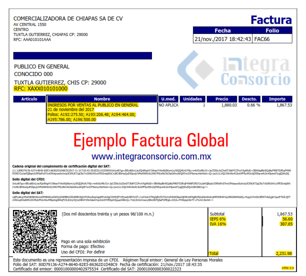 factura global 3.3
