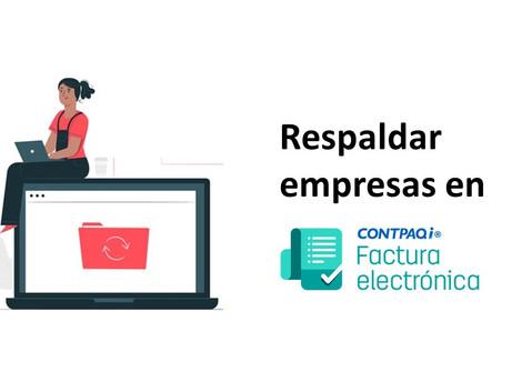 ¿Cómo respaldar una empresa en CONTPAQi Facturación Electrónica?