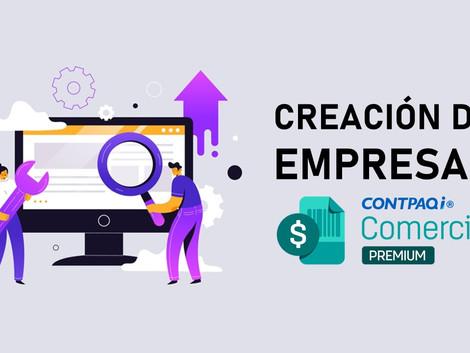 Crear una empresa nueva del sistema CONTPAQi Comercial es muy sencillo.