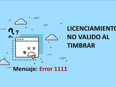 1111- El licenciamiento no es válido al timbrar una factura en CONTPAQi.